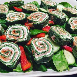 Lakseroulade med spinat