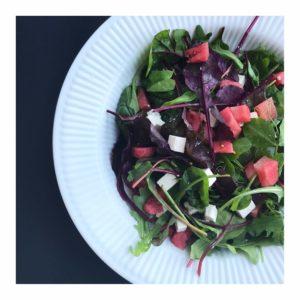 Hurtig salat med vandmelon og feta
