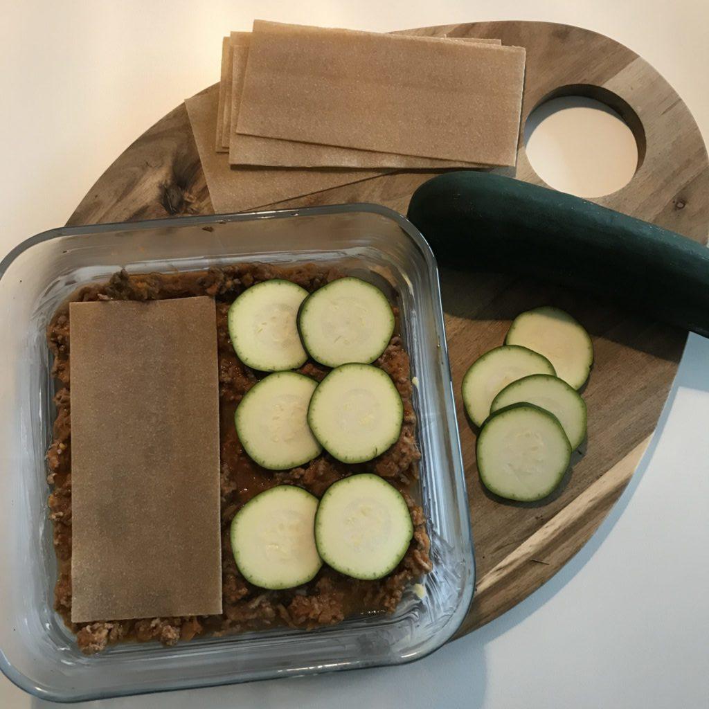 Hjemmelavet Lasagne med squash plader 1