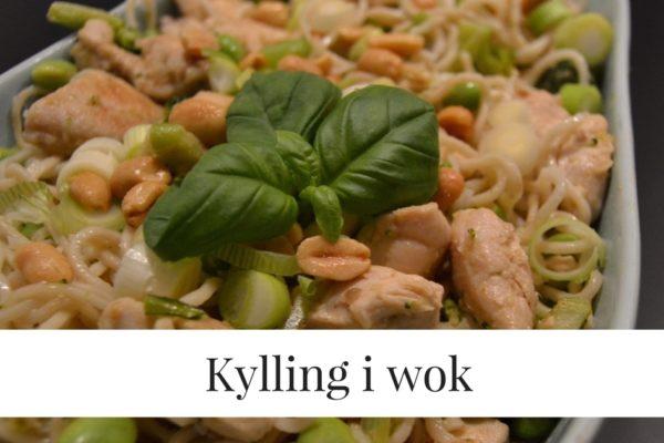 Kylling i wok medgrøntsager og de gode fedtstoffer