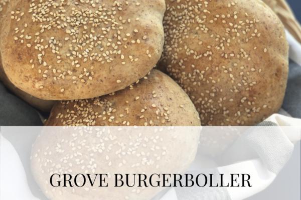 Grove burgerboller til grillsæsonen
